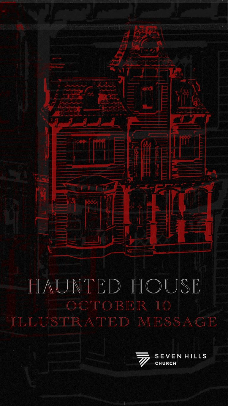 Haunted House Illustrated Message